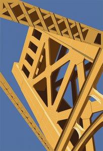 Digital Illustration of the Sacramento Tower Bridge by Cathy O'hagain