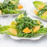 Photography: 3 Plates of Arugula & Orange Salad